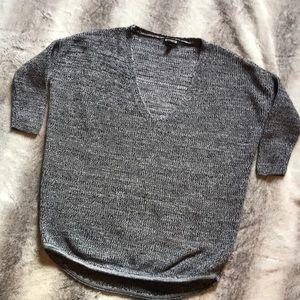 Express marbled sweater xs NWOT vneck